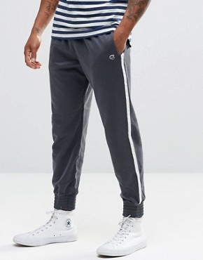 Abercrombie & Fitch Cuffed Joggers Retro Side Stripe Navy