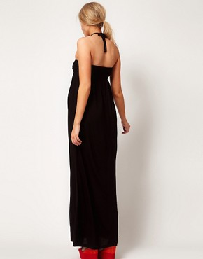 Image 2 ofASOS Maternity Maxi Dress With Ruched Bust