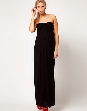 Image 4 ofASOS Maternity Maxi Dress With Ruched Bust