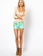 Denim & Supply By Ralph Lauren  Jeans-Shorts mit Blumendruck