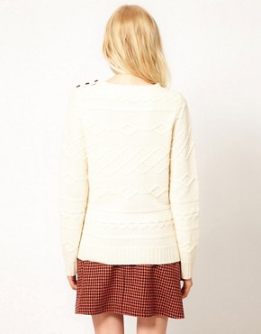 Image 2 ofBoutique by Jaeger Winnie Jumper in Horizontal Cable Knit