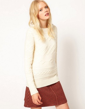 Image 1 ofBoutique by Jaeger Winnie Jumper in Horizontal Cable Knit