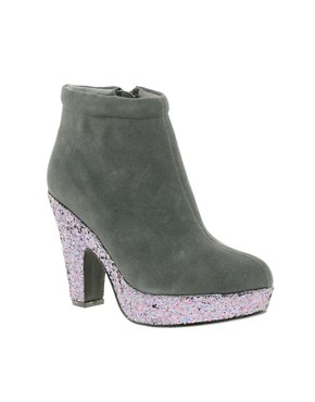 Image 1 ofASOS ACCOLADE Suede Platform Ankle Boots