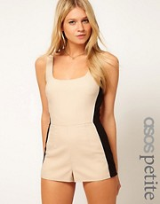 ASOS PETITE Exclusive Playsuit With Bow Back