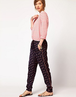 Image 1 ofMaison Scotch Palm Tree Beach Pants