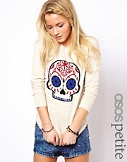 ASOS PETITE Exclusive Habanera Skull Jumper
