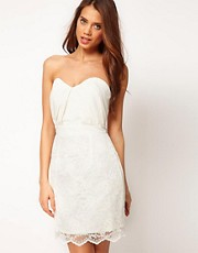ASOS Bandeau Dress with Lace Skirt