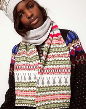 Image 1 of Paul Smith Fairisle Long Scarf