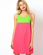 Love Shift Dress In Colour Block