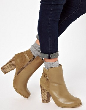 Image 3 ofOasis Buckle Suede and Leather Ankle Boots