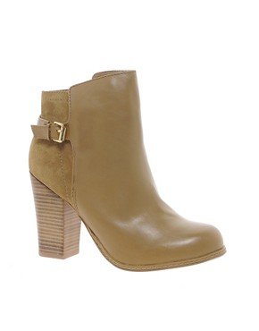 Image 1 ofOasis Buckle Suede and Leather Ankle Boots