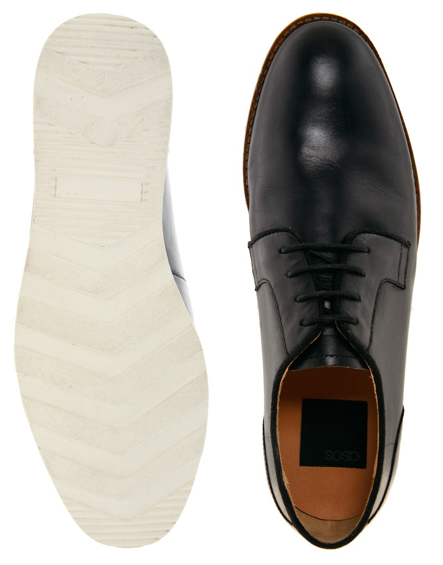 Image 3 of ASOS Derby Shoes With Wedge Sole