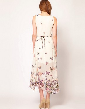 Image 2 ofWarehouse Butterfly Midi Dress