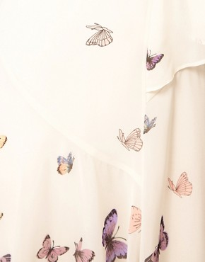 Image 3 ofWarehouse Butterfly Midi Dress