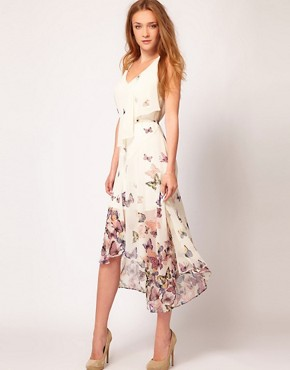 Image 4 ofWarehouse Butterfly Midi Dress