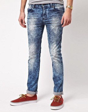 Image 1 ofDr Denim Exclusive Snap Skinny Jeans