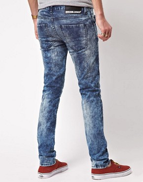 Image 2 ofDr Denim Exclusive Snap Skinny Jeans