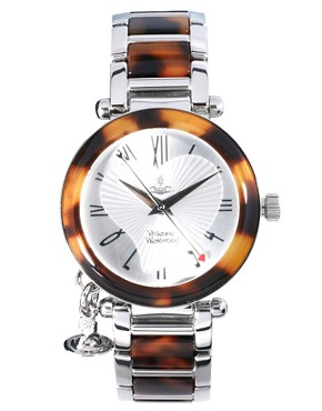 Image 1 ofVivienne Westwood Orb Tortoise and Silver Bracelet Watch