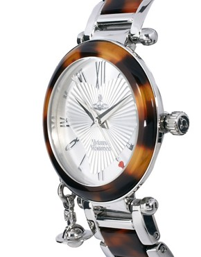 Image 3 ofVivienne Westwood Orb Tortoise and Silver Bracelet Watch
