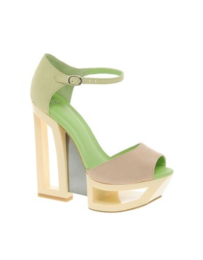 Image 1 ofASOS HOLLAND Leather Heeled Sandals