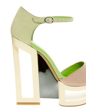 Image 2 ofASOS HOLLAND Leather Heeled Sandals