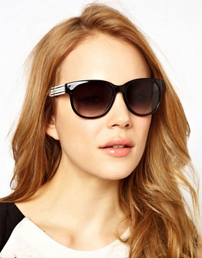 Image 3 ofMarc By Marc Jacobs Black D Frame Sunglasses
