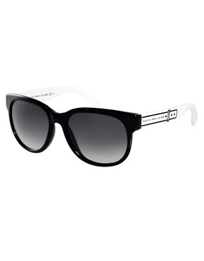 Image 1 ofMarc By Marc Jacobs Black D Frame Sunglasses