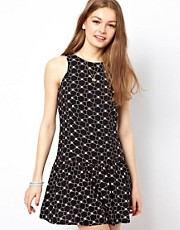 A Wear Drop Waist Printed Dress