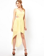 Love Hi Lo Dress With Cut Out Detail