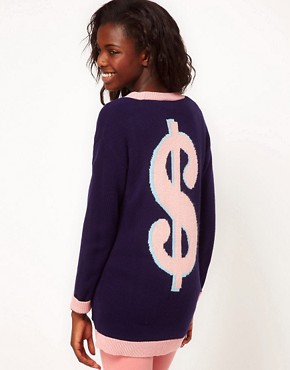 Image 1 ofASOS Dollar Back Cardigan