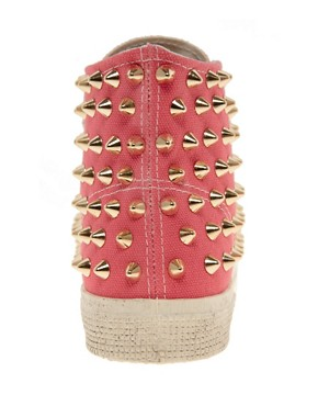 Image 4 of Gienchi Gapo Gold Studded High Top Sneakers