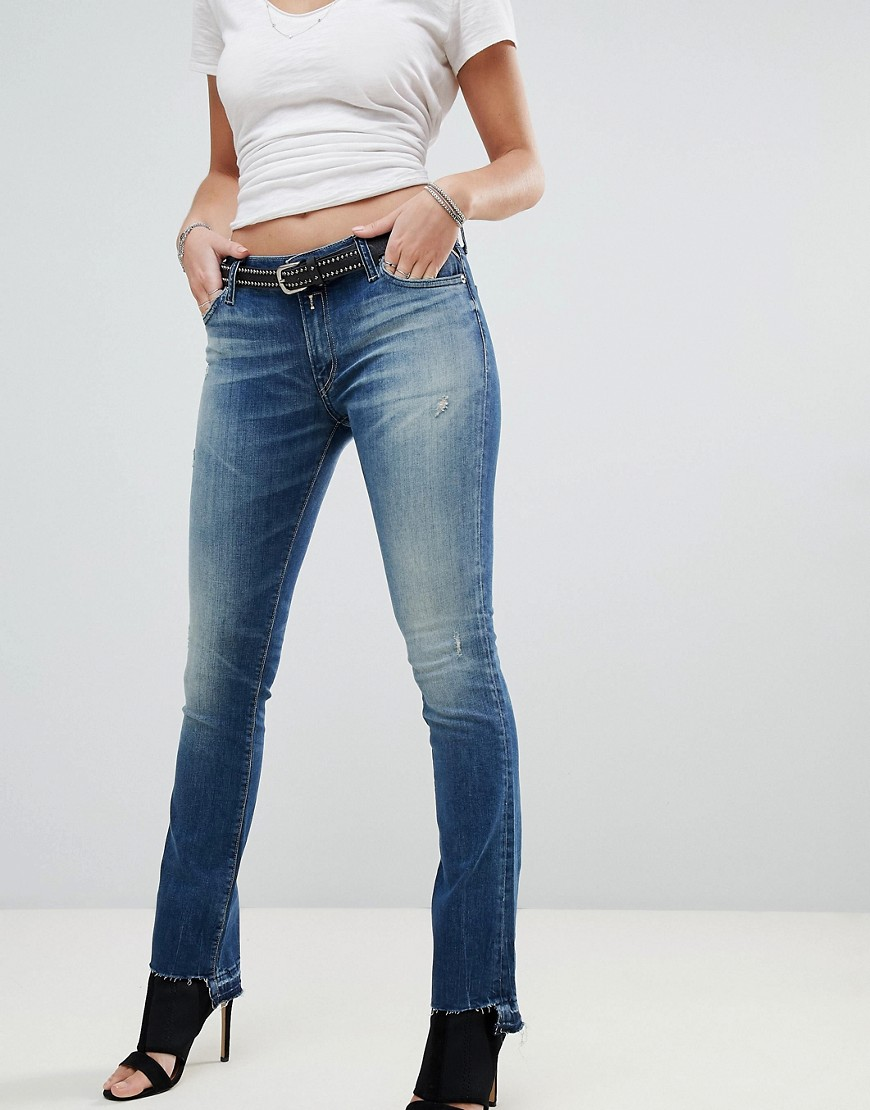 Replay Dominquli Cropped Bootcut Jeans Dark wash