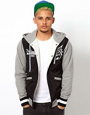 The Hundreds  Reloaded  Varsity-Jacke mit Kapuze