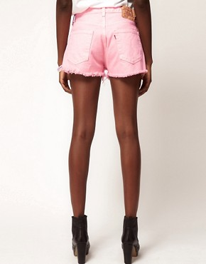 Image 2 ofReclaimed Vintage Levi&#39;s Shorts with High Waist In Pink