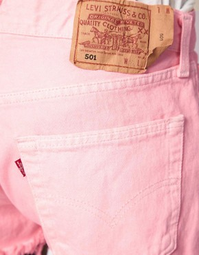 Image 3 ofReclaimed Vintage Levi&#39;s Shorts with High Waist In Pink