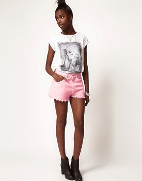 Image 1 ofReclaimed Vintage Levi&#39;s Shorts with High Waist In Pink