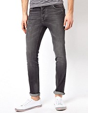 Asos Skinny Jeans In Washed Grey
