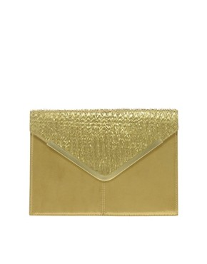 Image 1 of ASOS Leather Envelope Clutch