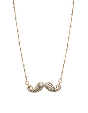 Image 1 ofRiver Island Encrusted Moustache Necklace