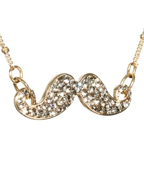 Image 4 ofRiver Island Encrusted Moustache Necklace