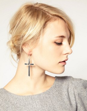 Image 2 ofASOS Cross Earrings