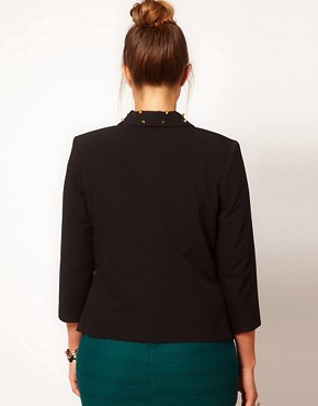 Image 2 ofASOS CURVE Exclusive Blazer With Studs