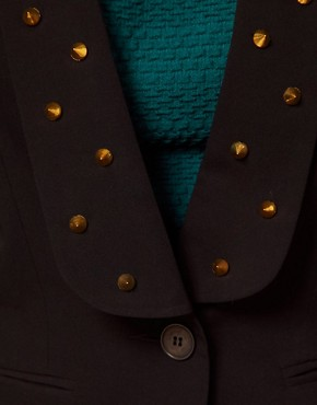 Image 3 ofASOS CURVE Exclusive Blazer With Studs