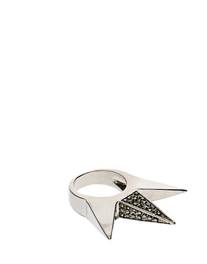 Image 1 ofASOS Triple Spike Ring