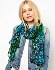 New Look Feather Print Scarf