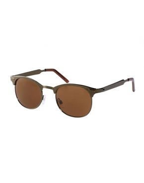 Image 1 ofASOS Metal Clubmaster Sunglasses