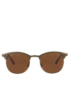 Image 2 ofASOS Metal Clubmaster Sunglasses