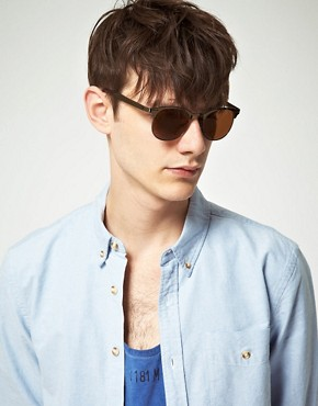 Image 3 ofASOS Metal Clubmaster Sunglasses