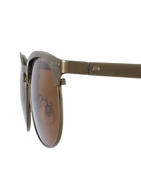 Image 4 ofASOS Metal Clubmaster Sunglasses