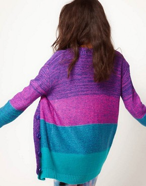 Image 2 ofASOS Bright Boyfriend Space Dye Cardigan